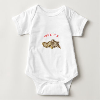 Funny baby bodysuit little ginger root redhead