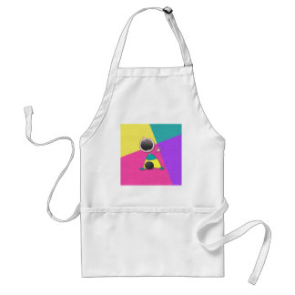 Funny Baby Bowler Adult Apron