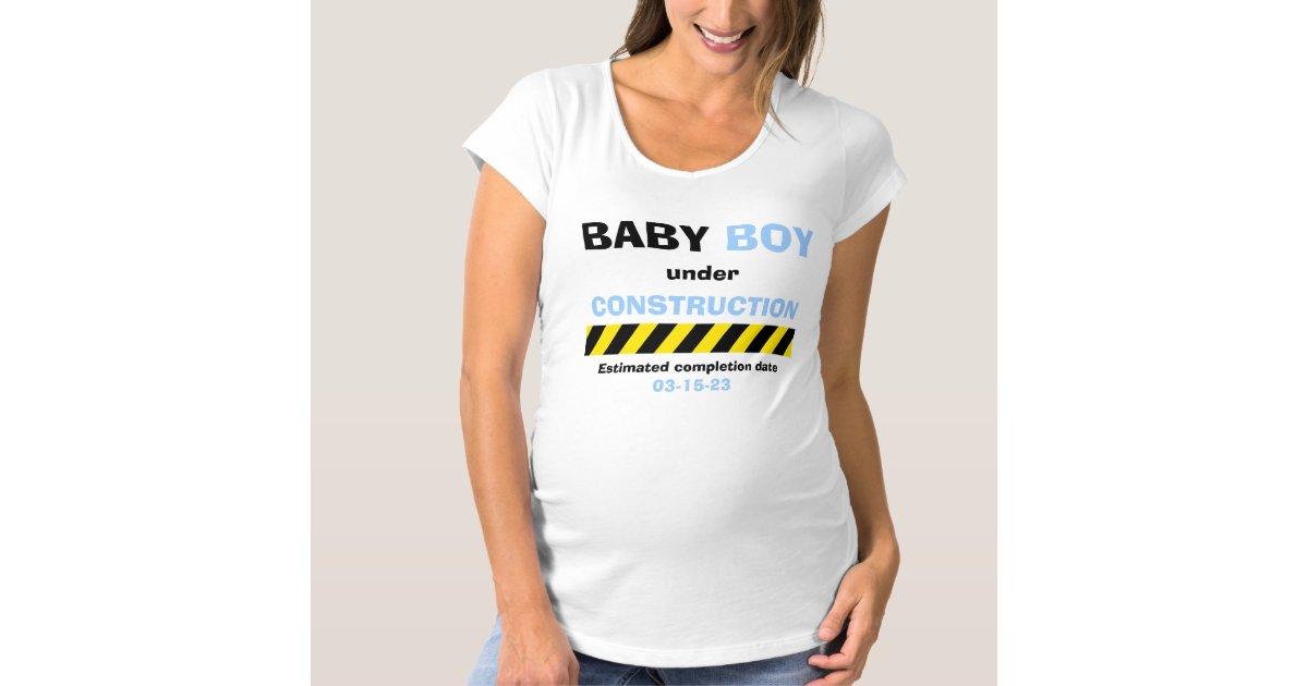 Funny Baby Boy Maternity Pregnancy for Women Maternity T-Shirt | Zazzle