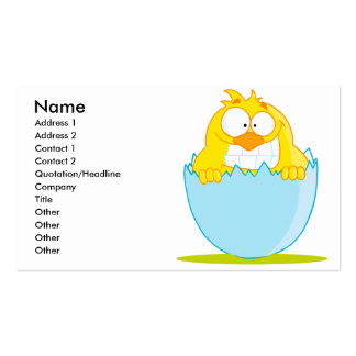 funny baby chick hatching from egg Double-Sided standard business cards (Pack of 100)