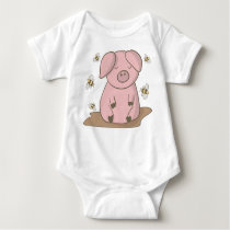 Funny Baby Clothes Baby Bodysuit t shirt Cute Pig