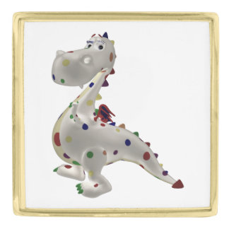 Funny Baby Dragon Gold Finish Lapel Pin