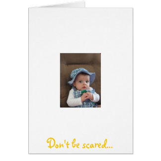 Funny Baby Easter Greeting Card