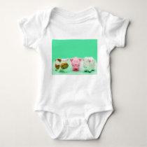 Funny Baby Farm Animals Cow Pig Sheep T-Shirt