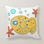 funny  baby  fish  pillow