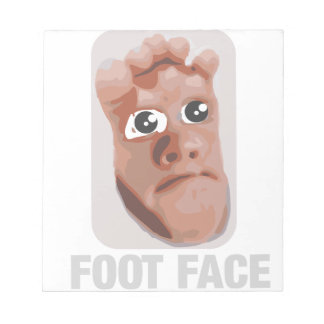 Funny baby foot face memo note pad