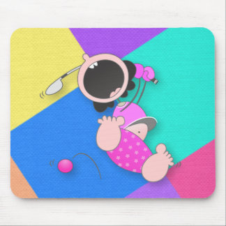 Funny Baby Golf | Funny Baby Golfer Mouse Pad