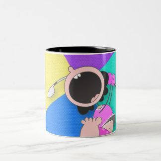Funny Baby Golf | Funny Baby Golfer Two-Tone Coffee Mug