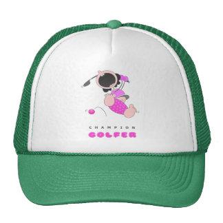 Funny Baby Golf | Funny Cartoon Golfer | Funny Mesh Hat