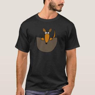 Funny Baby Kangaroo in Pouch Cartoon T-Shirt