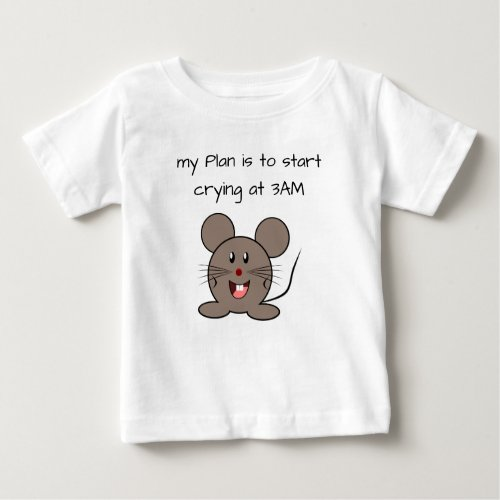 Funny Baby Mouse Toddler Baby T-Shirt