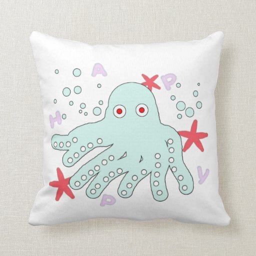 funny  baby  octopus   pillow