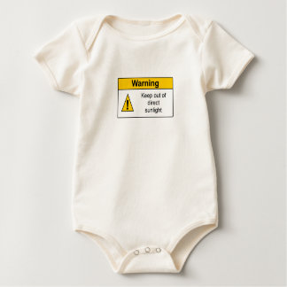 Funny Baby Onsie with Warning Label Romper