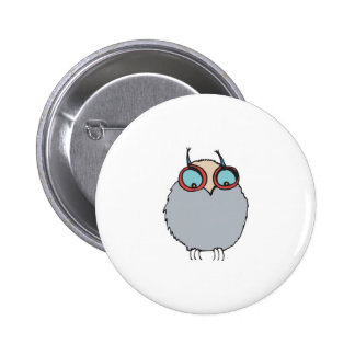 funny baby owl button