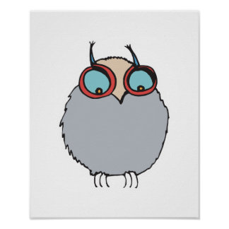 funny baby owl posters