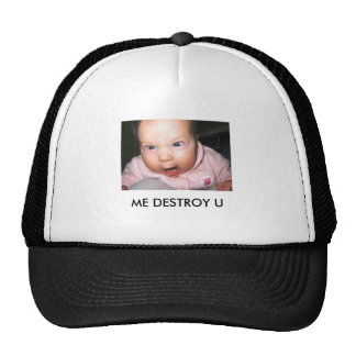 funny-baby-picture-angry-baby, ME DESTROY U Trucker Hat