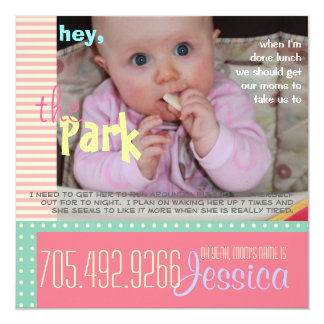 Funny Baby Play Date Invitation - Customize Photo