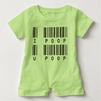 Funny Baby Romper - I POOP U POOP Baby Romper