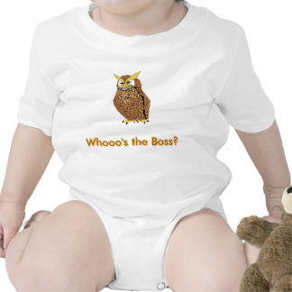 Funny baby s cloth Owl Whoo s the Boss Bodysuits