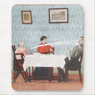 Funny Baby Seltzer Bottle Vintage Father's Day Mouse Pad