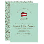 """Funny """"Celebrate Our Mistake With Cake"""" Couples Baby Shower Invitation"""