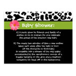 Funny Baby Shower Thank You Trendy Leopard Print Postcard