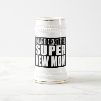 Funny Baby Showers New Mothers : Super New Mom Beer Stein