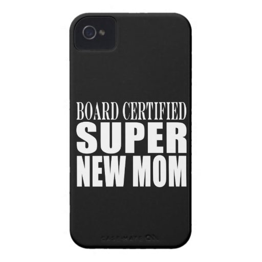 Funny Baby Showers New Mothers : Super New Mom iPhone 4 Case-Mate Case