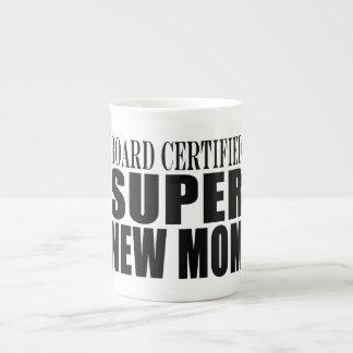 Funny Baby Showers New Mothers : Super New Mom Bone China Mug