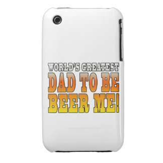 Funny Baby Showers Worlds Greatest Dad to Be iPhone 3 Covers