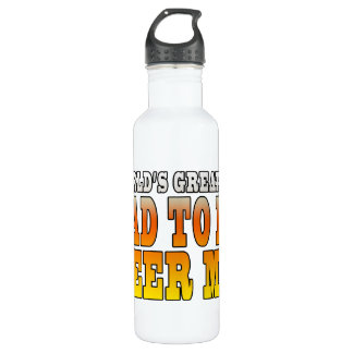 Funny Baby Showers Worlds Greatest Dad to Be Water Bottle