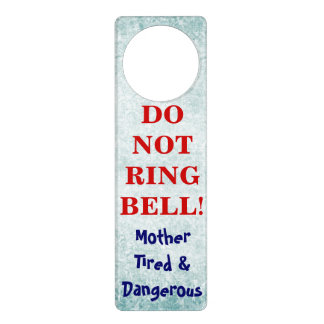 Funny Baby Sleeping Do Not Ring Bell  door hangers