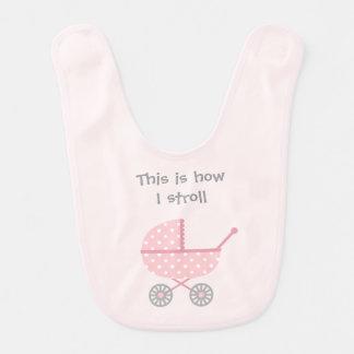 Funny Baby Stroller For newborn Girl Baby Bib