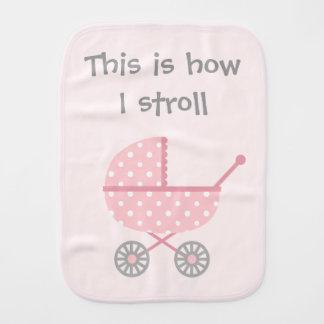 Funny Baby Stroller For newborn Girl Baby Burp Cloth
