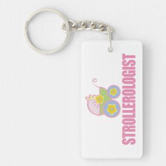 Funny Baby Stroller Keychain