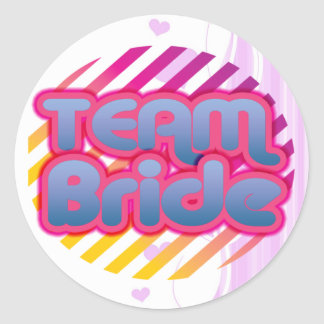 Funny Bachelorette Party Gifts Bride Round Sticker