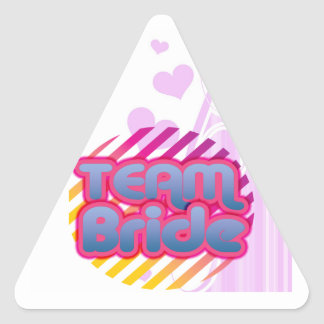Funny Bachelorette Party Gifts Triangle Sticker