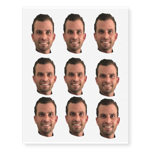 Funny Bachelorette Party Groom Picture Photo  Temporary Tattoos