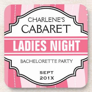 Funny Bachelorette Party Ladies Night Keepsake Drink Coaster