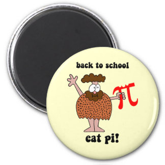 Funny back to school math 2 inch round magnet