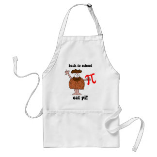 Funny back to school math adult apron