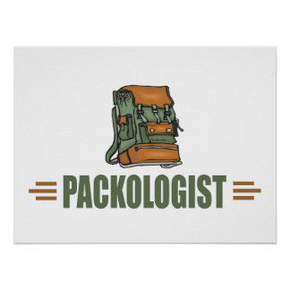Funny Backpacking Poster