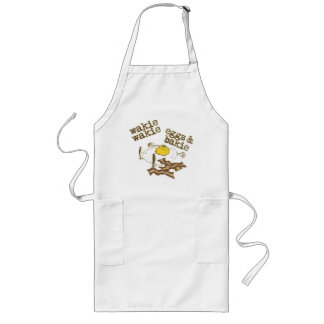 Funny Bacon and Eggs Long Apron