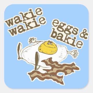Funny Bacon and Eggs Square Sticker
