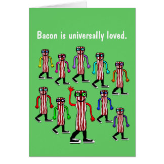 Funny Bacon Birthday Card Gift