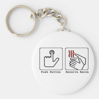 Funny Bacon Dryer Basic Round Button Keychain