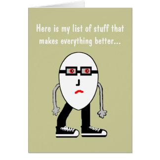 Funny Bacon & Egg Birthday Card Gift