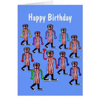 Funny Bacon & Egg Birthday Card Gift For Him