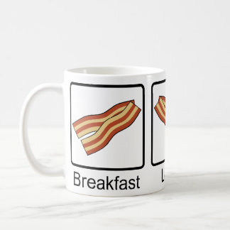 Funny Bacon for Breakfast, Lunch and Dinner Coffee Mug