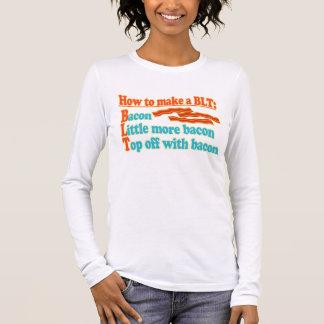 Funny Bacon Humor BLT Sandwich Long Sleeve T-Shirt